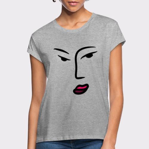 Frau Line Art Abstrakte Kunst - Frauen Oversize T-Shirt