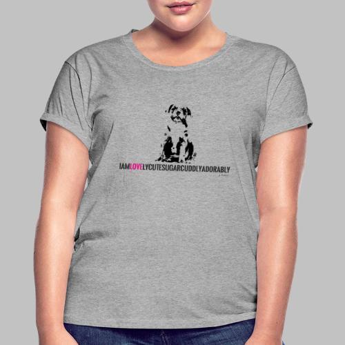 FRANZÖSISCHE BULLDOGE - WELPEN - LOVE - Frauen Oversize T-Shirt