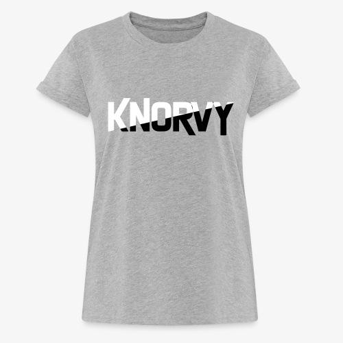 KNORVY - Vrouwen oversize T-shirt