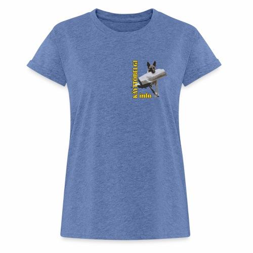 Käyttöbelgi.infon logotuotteet - Naisten oversized-t-paita