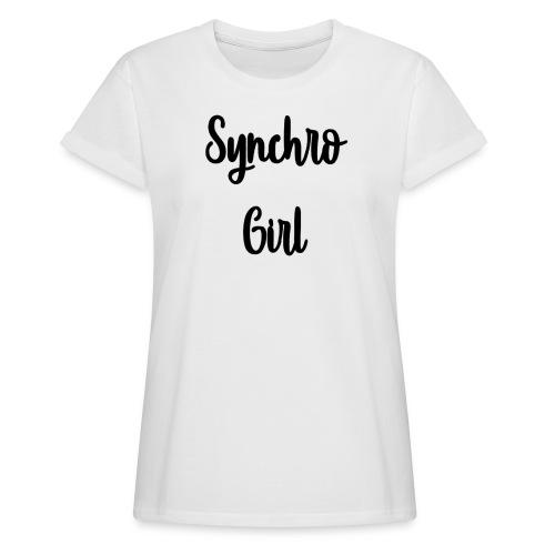 Synchro Girl - Naisten oversized-t-paita