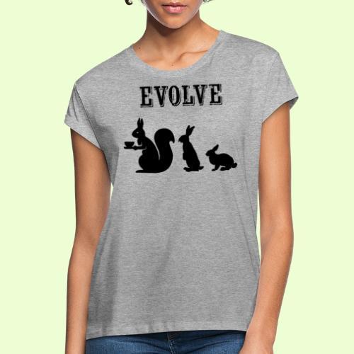 EvolveBunny - Vrouwen oversize T-shirt