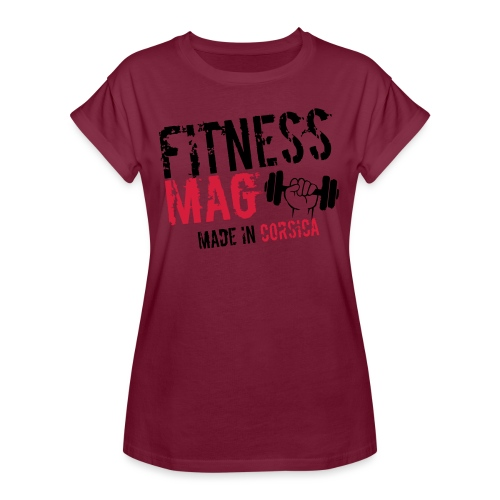 Fitness Mag made in corsica 100% Polyester - T-shirt oversize Femme