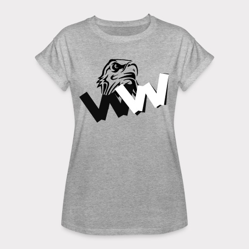 White and Black W with eagle - Women's Oversize T-Shirt