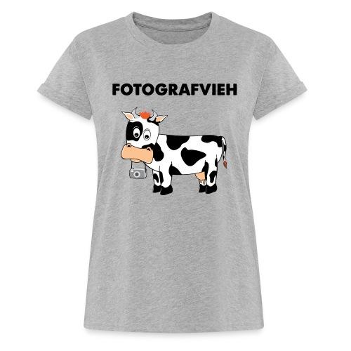 Fotografvieh - Frauen Oversize T-Shirt