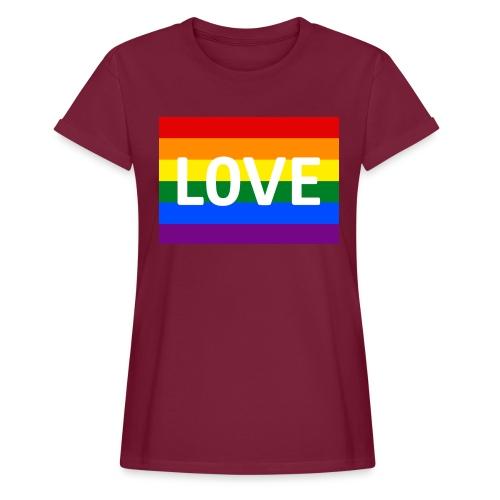 LOVE RETRO T-SHIRT - Dame oversize T-shirt
