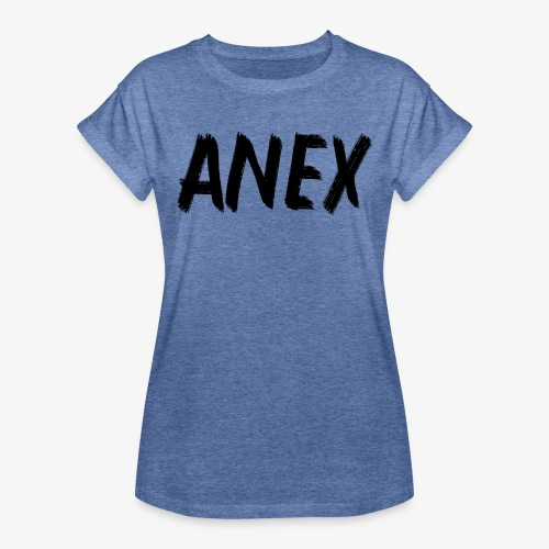 V-neck T-Shirt Anex black logo - Women's Oversize T-Shirt