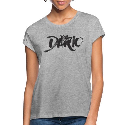 illustration logo noir - T-shirt oversize Femme