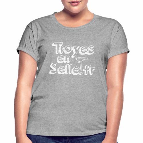 logo Troyes en Selle - T-shirt oversize Femme