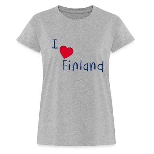 I Love Finland - Naisten oversized-t-paita