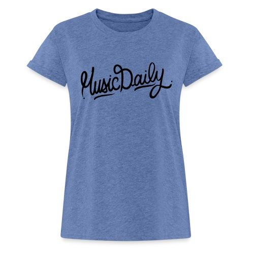 MusicDaily Logo - Vrouwen oversize T-shirt