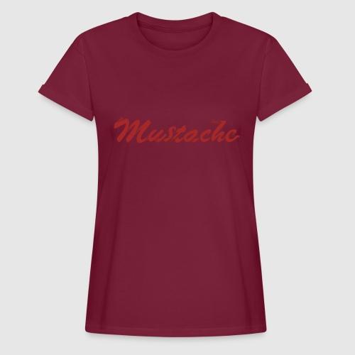 Red Mustache Lettering - Women's Oversize T-Shirt
