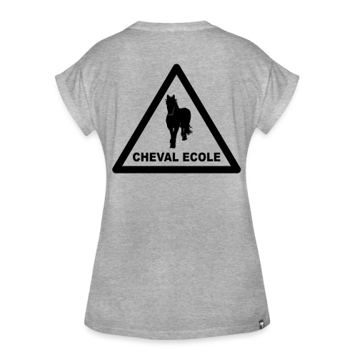 chevalecoletshirt - T-shirt oversize Femme