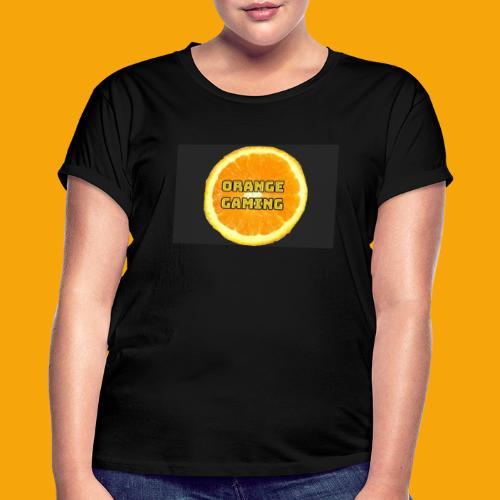 Orange_Logo_Black - Women's Oversize T-Shirt