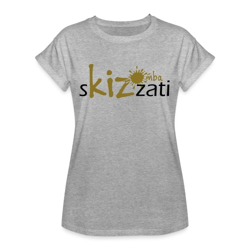 Beanie in jersey con logo sKizzati Kizomba - Verde - Maglietta ampia da donna