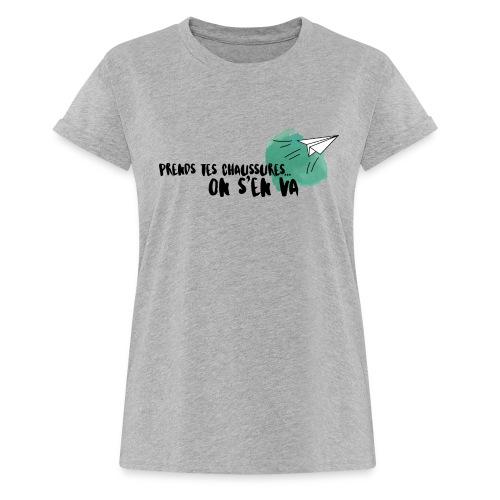 test - T-shirt oversize Femme