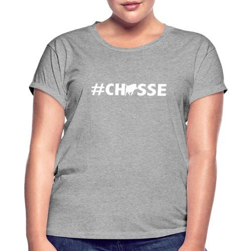 #Chasse motif sanglier pour afficher sa passion ! - T-shirt oversize Femme