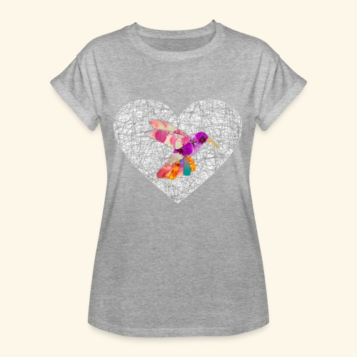 Colibri heart - Camiseta holgada de mujer