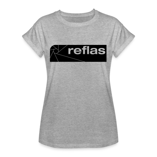 Reflas Clothing Black/Gray - Maglietta ampia da donna