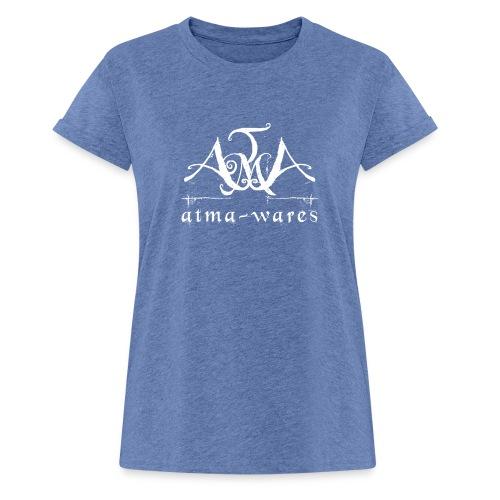 atma wares logo white - Vrouwen oversize T-shirt