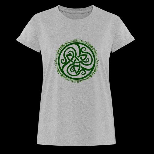 Green Celtic Triknot - Women's Oversize T-Shirt