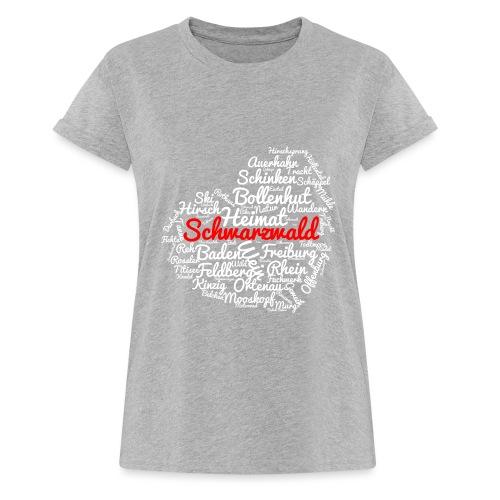 Schwarzwald Herz - Frauen Oversize T-Shirt