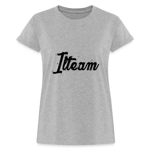 Ilteam Black and White - T-shirt oversize Femme
