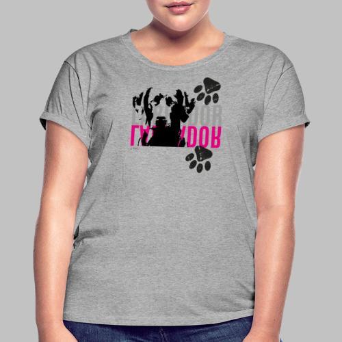 Labrador Kopf Pfoten - Frauen Oversize T-Shirt