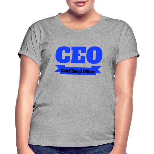 CEO - Chief Emoji Officer - Frauen Oversize T-Shirt