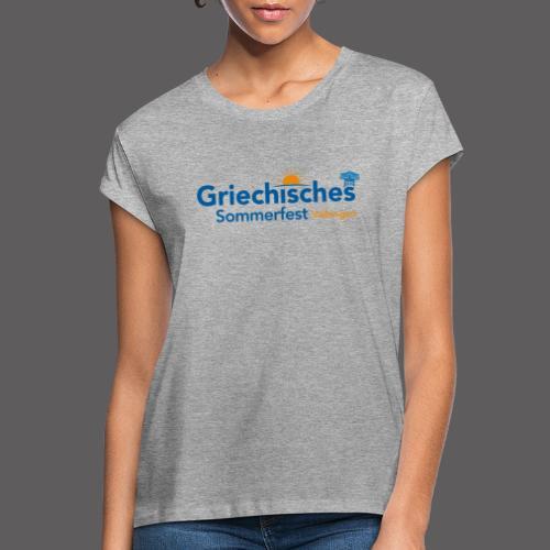 Griechisches Sommerfest Vaihingen - Frauen Oversize T-Shirt