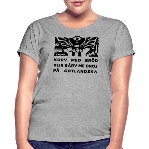 Korv med bröj (mörkt) - Oversize-T-shirt dam