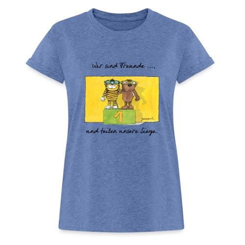 Janoschs 'Wir sind Freunde, und teilen ...' - Frauen Oversize T-Shirt