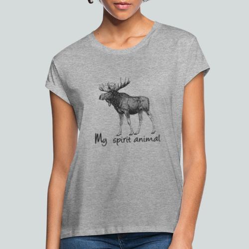 L'élan est mon animal totem - T-shirt oversize Femme