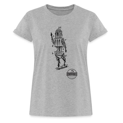 ZWOLLE 038 rattatattoo zwolle perperbus - Vrouwen oversize T-shirt