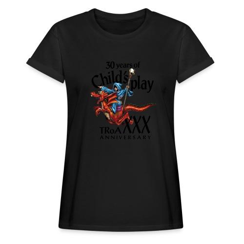 TRoA 30 år - Sort skrift - Dame oversize T-shirt