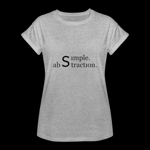 simple. abstraction. logo - Frauen Oversize T-Shirt