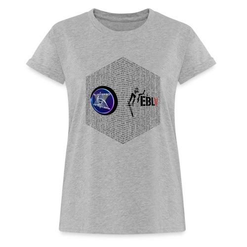 disen o dos canales cubo binario logos delante - Women's Oversize T-Shirt