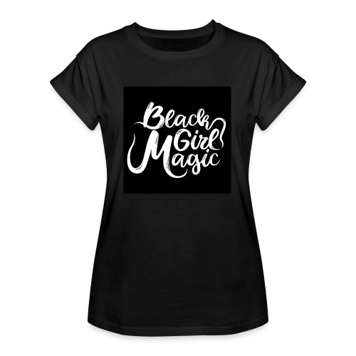 Black Girl Magic 1 White Text - Women's Oversize T-Shirt