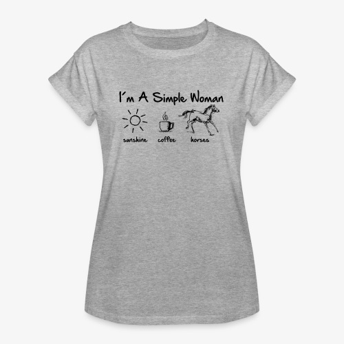 Vorschau: simple woman horse - Frauen Oversize T-Shirt