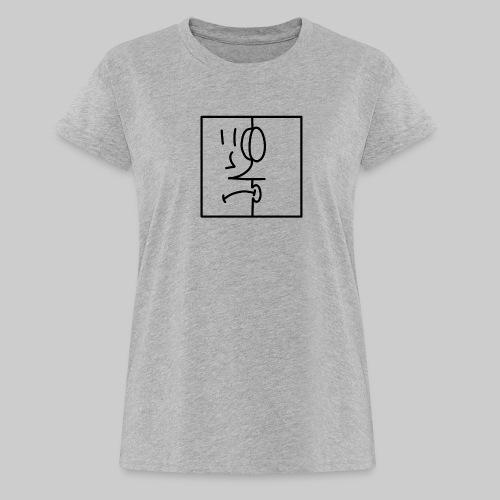 zwei Gesicht - Frauen Oversize T-Shirt