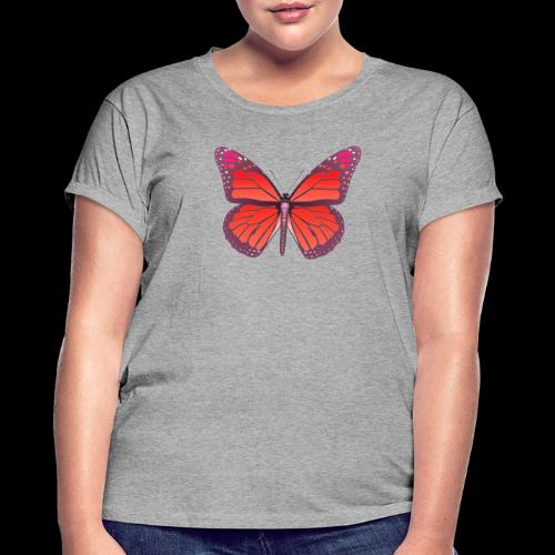 D28 monarch butterfly red lajarindream 4500px - Camiseta holgada de mujer