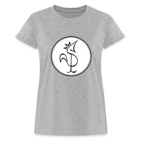 Pitou Noir fond blanc - T-shirt oversize Femme