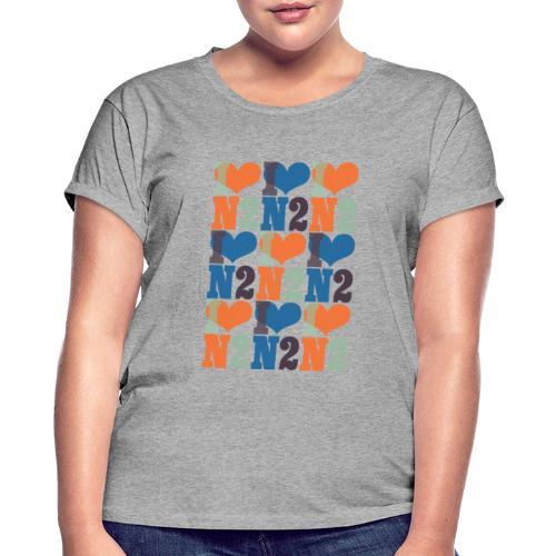 East Finchley I Love N2 pattern - Women's Oversize T-Shirt