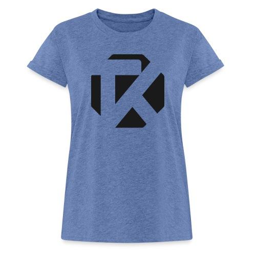 Logo TK Noir - T-shirt oversize Femme