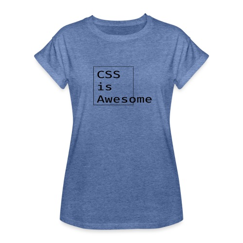 cssawesome - black - Vrouwen oversize T-shirt