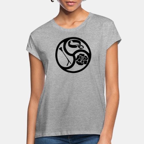 Triskele triskelion BDSM Emblem HiRes 1 color - Frauen Oversize T-Shirt