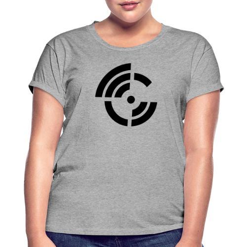 electroradio.fm logo - Women's Oversize T-Shirt