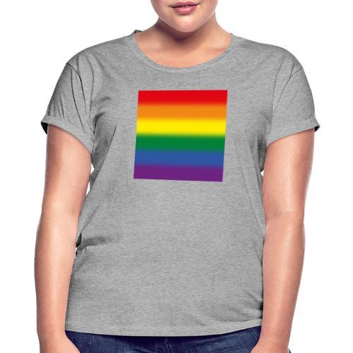 Verschwommene LGBT Flagge - Frauen Oversize T-Shirt