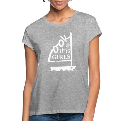 AndriesBik look thisGIRLS shirt witteletters - Vrouwen oversize T-shirt