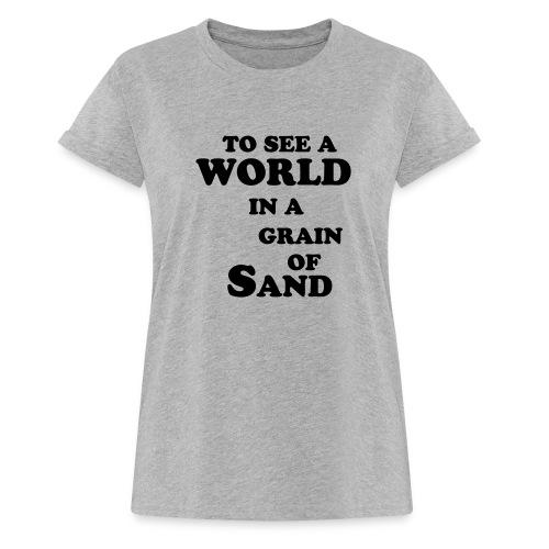 grainofsand - Vrouwen oversize T-shirt